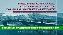 [PDF] Personal Conflict Management: Theory and Practice Ebook Free