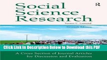 [Read] Social Science Research: A Cross Section of Journal Articles for Discussion   Evaluation