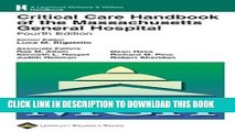[PDF] Critical Care Handbook of the Massachusetts General Hospital: Formerly known as