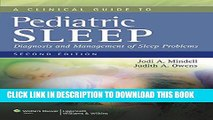 [PDF] A Clinical Guide to Pediatric Sleep: Diagnosis and Management of Sleep Problems Popular Online