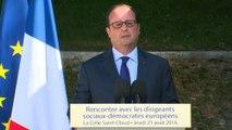 Discours lors de la rencontre des dirigeants sociaux-démocrates européens