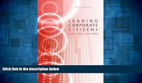 READ FREE FULL  Leading Corporate Citizens: Vision, Values, Value Added  READ Ebook Full Ebook Free