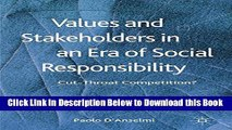 [Best] Values and Stakeholders in an Era of Social Responsibility: Cut-Throat Competition? Free