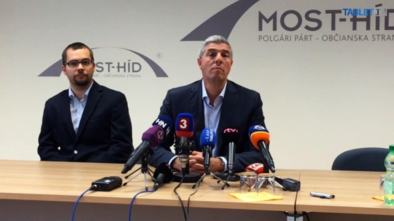 ZÁZNAM: MOST-HÍD navrhuje na post ministra dopravy Á. Érseka