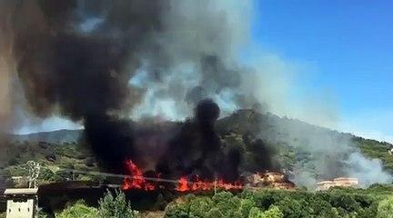 VIDEO. Des habitations menacées par les flammes à Casamozza