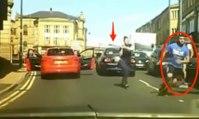 Une femme protège son mari avec une batte de baseball lors d'un road rage !