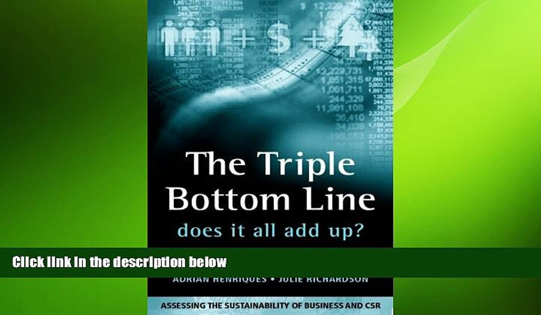 FREE DOWNLOAD  The Triple Bottom Line: Does It All Add Up  DOWNLOAD ONLINE