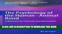 [PDF] The Psychology of the Human-Animal Bond: A Resource for Clinicians and Researchers Popular