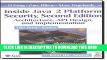 PDF Inside Java 2 Platform Security Architecture API Design and