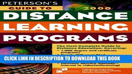 Collection Book Peterson s Guide to Distance Learning Programs, 2000 (Peterson s Guide to Distance