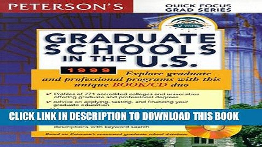 Collection Book Peterson s Graduate Schools in the U.S. 1999