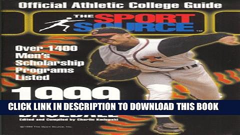 New Book 1999 Official Athletic College Guide: Baseball