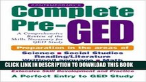 Collection Book Contemporary s Complete Pre-GED : A Comprehensive Review of the Skills Necessary