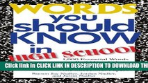 Collection Book Words You Should Know In High School: 1000 Essential Words To Build Vocabulary,