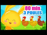 Quand trois poules vont aux champs - Comptines pour les petits enfants