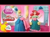 Pâte à modeler en français avec les princesses Disney Cendrillon et Ariel la petite sirène
