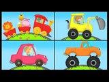 Apprendre les couleurs avec les voitures, les Trains, les avions, les camions et les motos