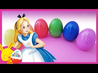 Alice aux pays des merveilles - Oeufs surprises de couleurs Disney - Touni toys