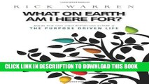 [PDF] What on Earth Am I Here For? Purpose Driven Life(Booklet) Full Colection