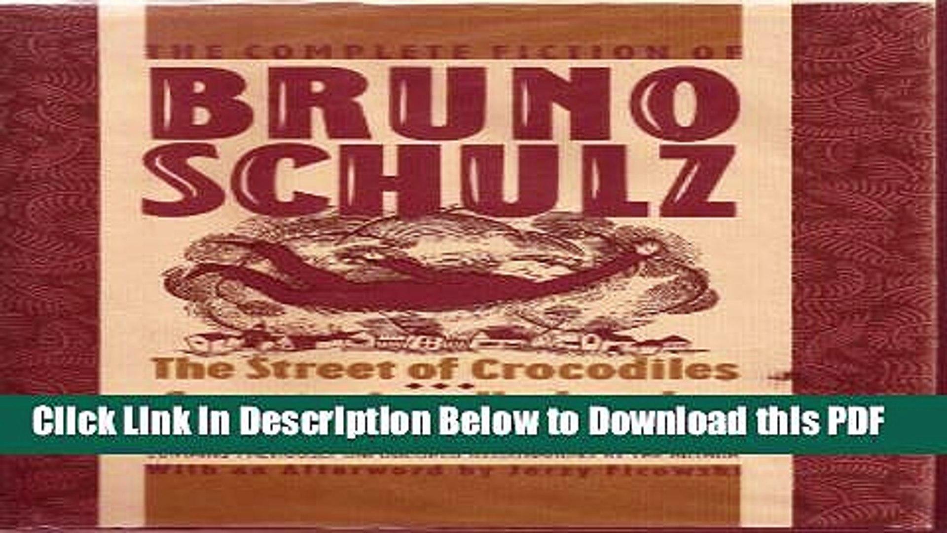 Bruno schulz the street of crocodiles pdf