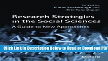 [Get] Research Strategies in the Social Sciences: A Guide to New Approaches Popular Online