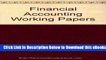[Reads] Printed Working Papers: Used with ...Needles-Financial Accounting Free Books