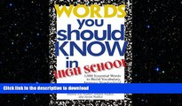 READ THE NEW BOOK Words You Should Know In High School: 1000 Essential Words To Build Vocabulary,