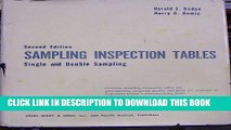[PDF] Sampling Inspection Tables: Single and Double Sampling, 2nd Revised and Expanded Edition