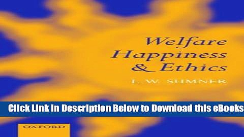 [Reads] Welfare, Happiness, and Ethics Free Books