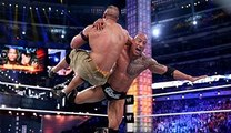The Rock vs john cena- Steel Cage Match - WWE Hell in a Cell 2015