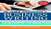 Collection Book The AMA Handbook of Business Writing: The Ultimate Guide to Style, Grammar,