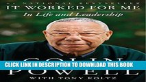Collection Book It Worked for Me: In Life and Leadership