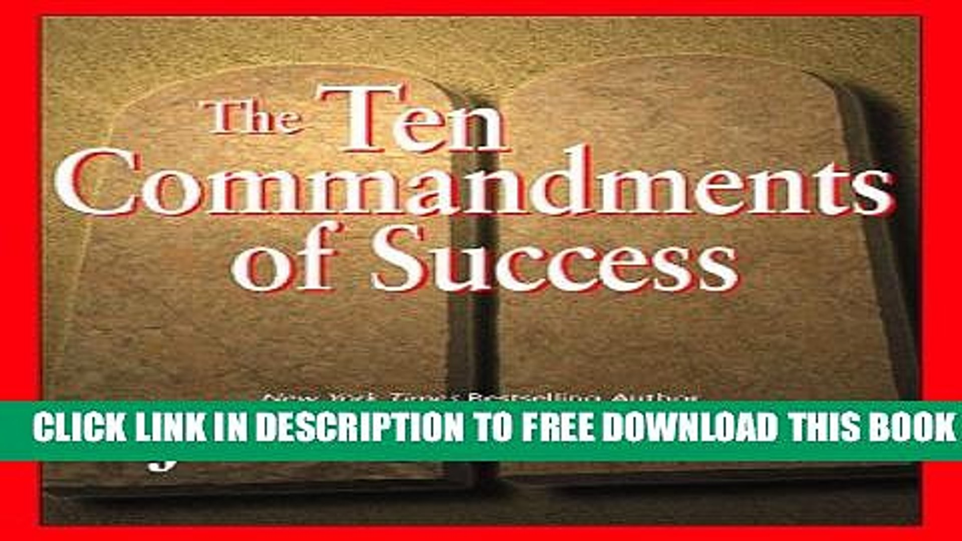 New Book The Ten Commandments Of Success Video Dailymotion
