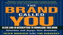 Collection Book The Brand Called You: Make Your Business Stand Out in a Crowded Marketplace