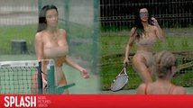 Kim Kardashian Plays a Sexy Round of Tennis