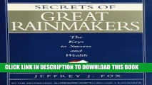 New Book Secrets of Great Rainmakers: The Keys to Success and Wealth
