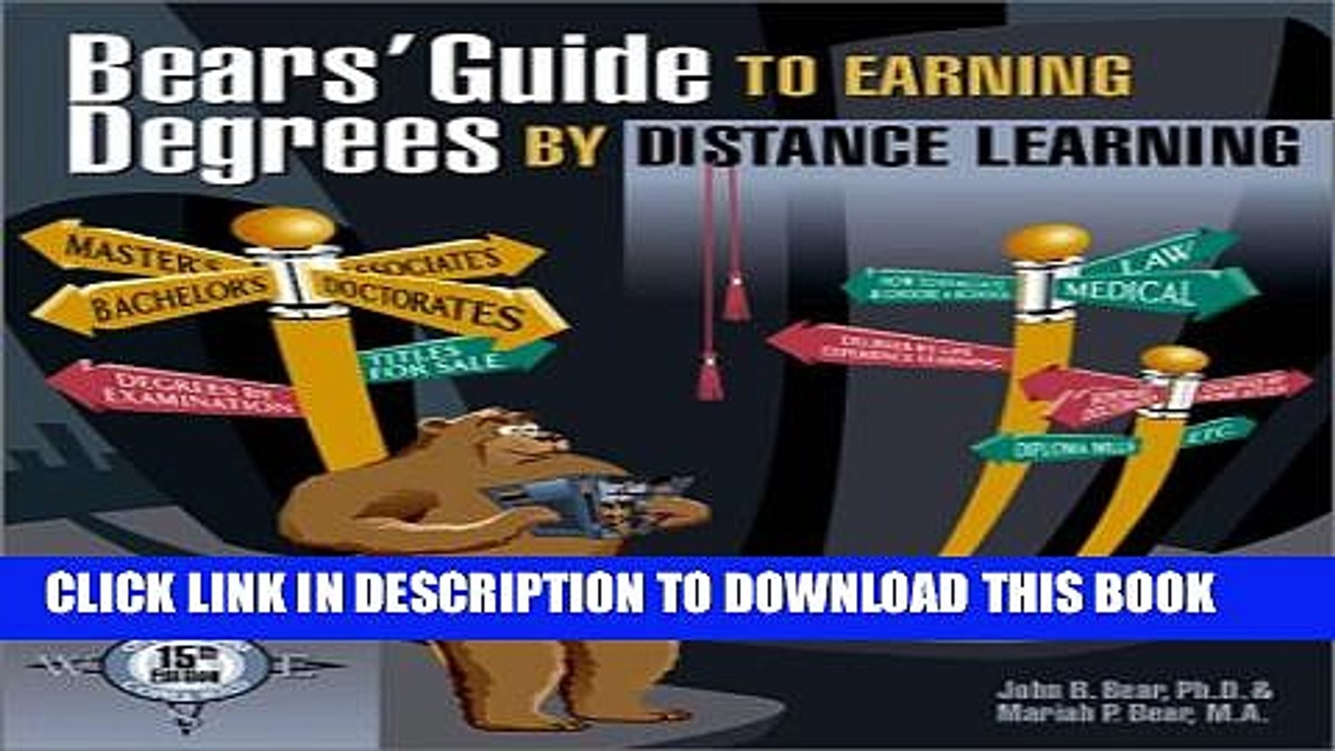 New Book Bears  Guide to Earning Degrees by Distance Learning