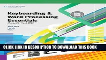 New Book Keyboarding and Word Processing Essentials, Lessons 1-55: Microsoft Word 2010 (Available