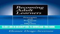 Collection Book Becoming Adult Learners: Principles and Practices for Effective Development