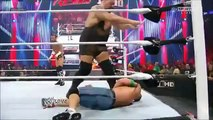 The Rock saves John Cena and gets attacked by CM Punk at 1000th Episode of RAW-7_23_12 WWE wrestling On Fantastic Videos