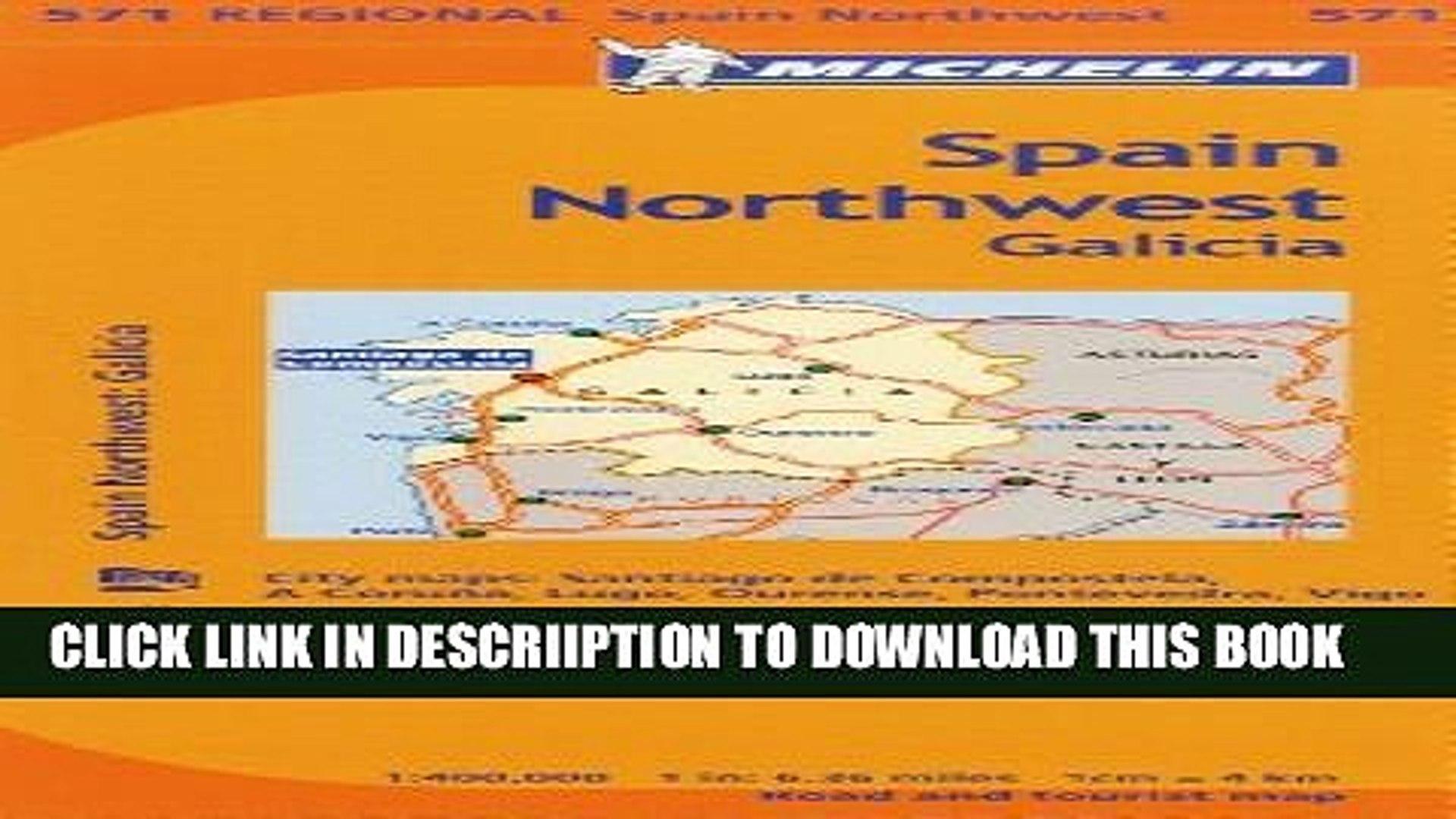 Galicia Map No.571 Michelin Spain Northwest