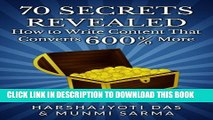 New Book 70 SECRETS REVEALED: How To Write Content That Converts 600% More (Conversion Rate
