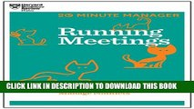 [PDF] Running Meetings (HBR 20-Minute Manager Series) (20 Minute Manager) Popular Colection