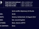 Syrie: Moscou et Washington annoncent des progrès vers un cessez-le-feu