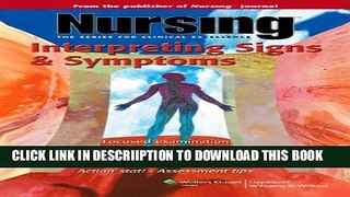 [PDF] Nursing: Interpreting Signs   Symptoms (Nursing Series (the Series for Clinical Excellence))