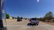 Quand tu croises un débile à contre sens en BMX sur l'autoroute!
