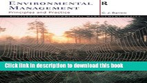 Read Environmental Management for Sustainable Development (Routledge Environmental Management