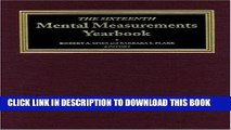 [PDF] The Sixteenth Mental Measurements Yearbook (Buros Mental Measurements Yearbook) Popular