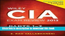 Read Wiley CIA Exam Review 2013, Complete Set (Parts 1 - 3)  Ebook Free