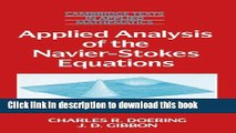Read Applied Analysis of the Navier-Stokes Equations (Cambridge Texts in Applied Mathematics)